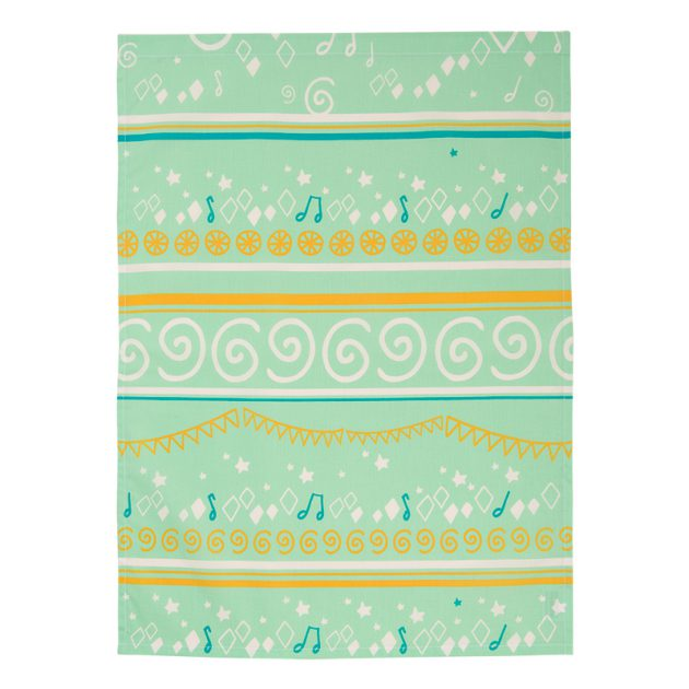 serviette de table bio motif circus