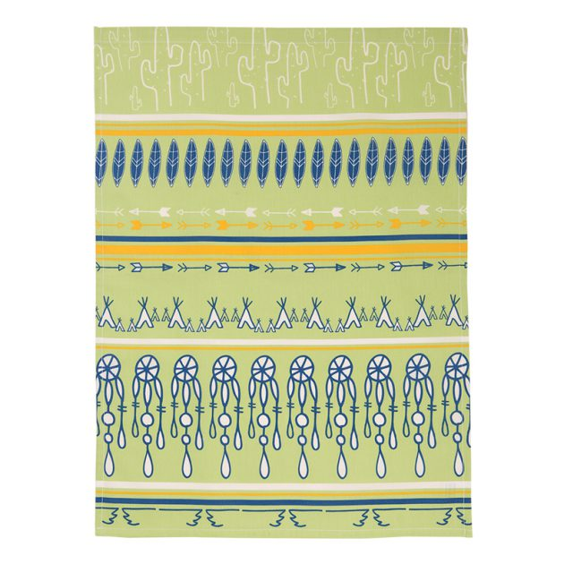 serviette de table bio motif sioux