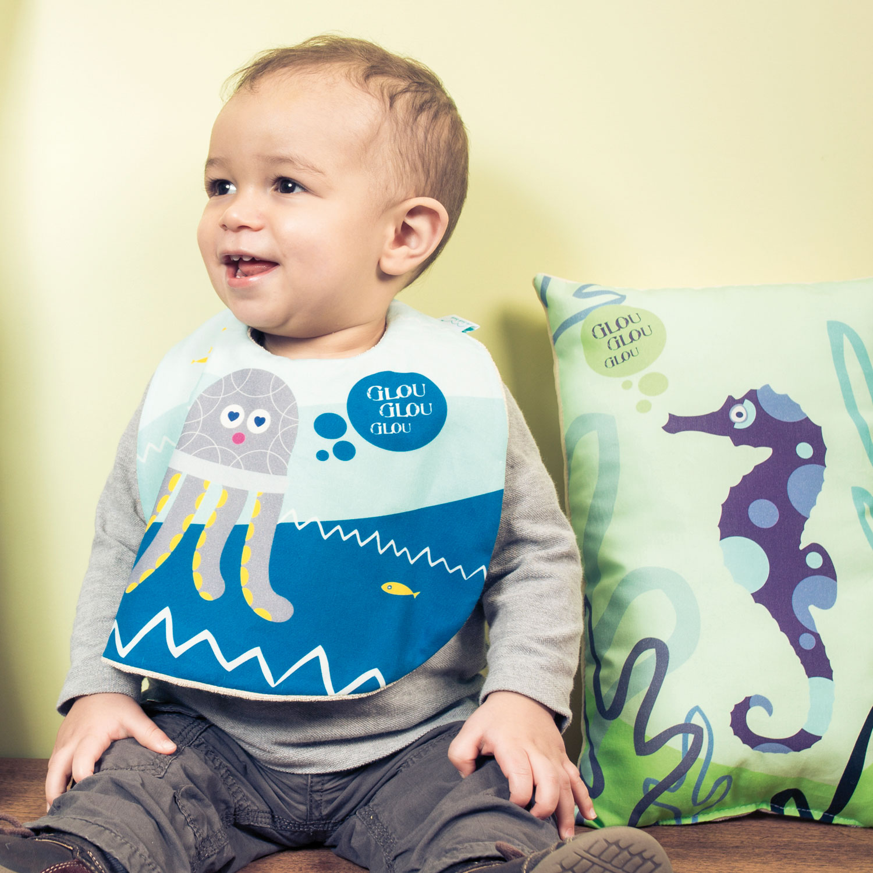bavoir en coton biologique pour bébé