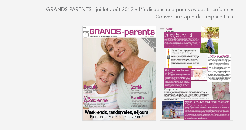 Cha bada bada dans le mag Grands Parents