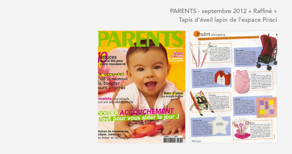 Cha bada bada dans le mag Parents